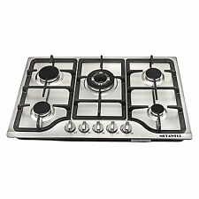 """New 30"""" Stainless Steel 5 Burner Built-in Stoves Natural Gas Hob Cooktops Cooker"""
