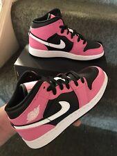 Nike Air Jordan 1 Mid Pinksicle White/Pink-Black GS UK 3 US 3.5y | EU 35.5 BNIB
