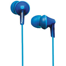 Panasonic RP-HJE125 Blue ErgoFit Neodymium In-Ear Gym IPod Earphones Headphones