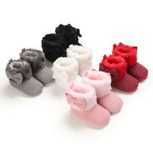 Baby Girl Crib Shoes Child Winter Snow Warm Booties Toddler High Top Boots 0-18M