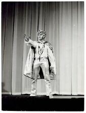 Photo Claude Schwartz - Johnny Hallyday - Les Poneyttes 1967 - Tirage d'époque