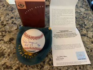 GALE SAYERS Autographed Signed HOF 77 Rawlings Official Baseball UDA LE 40