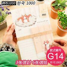 korean  paper set  letter set wolf kawaii