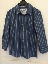 boys age 6-7 long sleeve striped cotton shirt Primark vgc