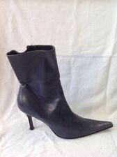 L.K.Bennett Grey Ankle Leather Boots Size 38.5