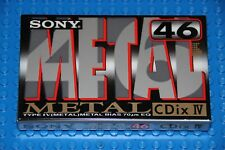 SONY  CDiX  METAL IV     46     VS VI      BLANK CASSETTE TAPE (1) (SEALED)