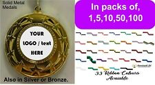 Event / club Medal Packs 1,5,10,50,100 Complete with Free logo and Ribbons u.k