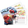 Spiderman Birthday Party Invitations, Pack of 20 Invites, Children Kids Girl Boy