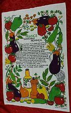 FRANCE RATATOUILLE PROVENCAL~Irish Linen~Tea~Hand~Kitchen~Dish~Towel~Ireland