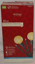 Holiday Living Led 25 Count Warm White Light Strand 7 Functions Timer Battery