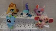 Littlest Pet Shop Lot of 5 Sparkle Pets Fish Chinchilla AntEater Seahorse