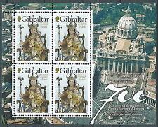 2009 GIBILTERRA FOGLIETTO CONGIUNTA VATICANO NOSTRA SIGNORA D'EUROPA MNH ** - ED