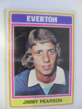 Jimmy Pearson - Everton (Topps Cards 1975/76 - Blue/Grey Back)