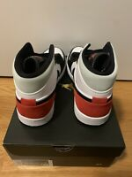 Air Jordan 1 Mid SE Red Black Toe Union Mens Brand NEW SIZE 10 (852542-100)