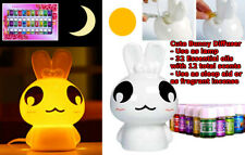 Porcelain Bunny Essential Oil Diffuser Lamp Kit - 32 Essential Oils(12 Scents)