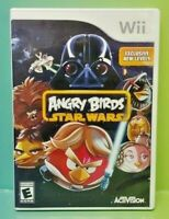 Angry Birds Star Wars - Nintendo Wii Game Complete 1 Owner Mint Disc 1-4 players