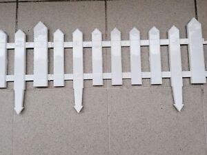 Gartenzaun Zierzaun Friesenzaun Beetumrandung 6 Stück, 3,15m weiß s. Beschreibg.