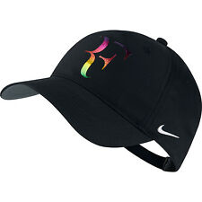 New Nike RF Roger Federer Iridescent Hat Cap Black Tennis  Dri Fit  835536-010