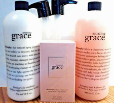 Philosophy AMAZING GRACE EAU DE PARFUM SHAMPOO SHOWER GEL & BODY LOTION 32 OZ.