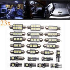 23x Canbus LED White Car Inside Light Kit Dome Trunk Map License Plate Lamp Bulb