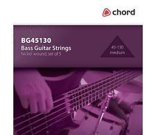 Bass Guitar strings Medium Guage 45-130 5 strings by Chord