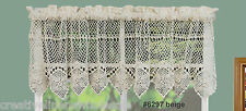 Cotton Crochet Lace Kitchen Curtain Valance Beige Handmade Creative Linens