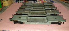 Hornby Dublo Weltrol 40 ton bogie wagons x 4 3 rail grey metal 4605