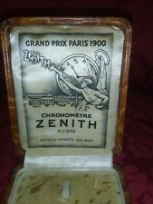 Zenith originale astuccio antico vintage x orologio da tasca raro