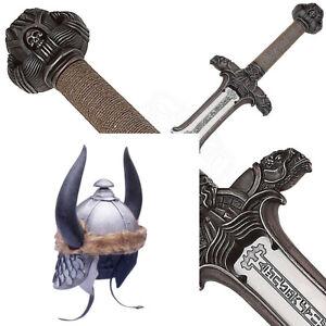 Conan The Barbarian Atlantean Sword + Barbarian Helmet with Stand
