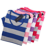 Tommy Hilfiger Women's Short Sleeve Classic Fit Stripe Tee T-Shirt -$0 Free Ship
