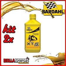 KIT 2X LITRO OLIO BARDAHL XTS C60 10W60 LUBRIFICANTE PER MOTO 4T 1LT