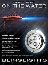 70' Foot / 22 Meter Beam Titanium Underwater Blue LED Boat Lamps Boat Lights