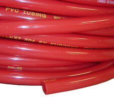 "5/16"" I.D. Red Gas Vinyl Hose; 6 foot sections CO2 Beer systems with Two clamps"