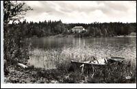 Laufen Bayern alte Ansichtskarte 1954 Kinderkurheim Schloß mit Abtsee gelaufen