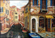 "Viktor Shvaiko""Autumn in Venice"" on canvas unframed H.Signed Make an Offer"