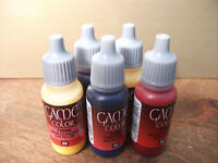 5 X VALLEJO GAME COLOR ACRYLIC PAINTS CHOOSE ANY 5 POTS