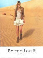 PUBLICITE ADVERTISING 2011 Vêtements et Chaussures BERENICE