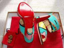 $1295 Christian Louboutin Azunika Mules women 37 Sandal Shoe Bag NIB - ITALY