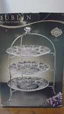 Shannon Godinger Dublin 3 Tier Crystal Server Nickel Plate Rack New in Box