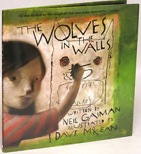 Neil Gaiman Wolves in the Wall Hardcover Book First Print New 2003 Dave McKean