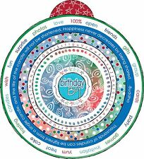 CIRCLE STICKERS 5 PAGES SCRAPBOOKING CHRISTMAS  B-DAY BOY SCHOOL GRANDPARENTS-