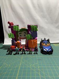 Imaginext Batman Batmobile Joker Playset with 5 Figures Lot