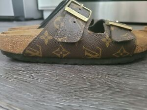 Pair of Louis Vuitton Birkenstock size 39 slides