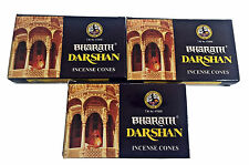 Bharath Darshan Incense Cones Finest Indian Dhoop Cone Insense x 3 Boxes