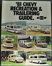 1981 Chevrolet Recreation Brochure Pickup Suburban Van RV Camper Motor Home 81