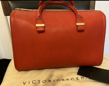 Victoria Beckham Victoria Leather Red Tote Bag