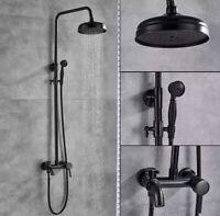 Dusch Armatur Duschset Regendusche Duschsystem Antik Retro Nostalgie Schwarz