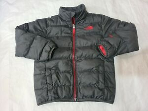 5-6-7 years Boys small the North face 550 grey Coat down lined (22)