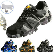 Mens Work Safety Shoes Camo Steel Toe Cap Boots Hiking Sports Shoes Sneakers