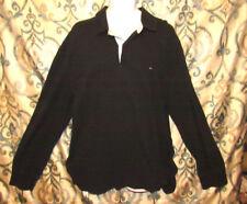Tommy Hilfiger Mens XXL Long Sleeve Black Polo Shirt